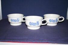 3 Pfaltzgraff Yorktowne Flat Coffee Cups