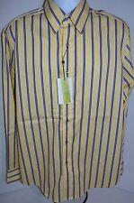 Robert Graham Hombre Roam Informal Tejido Camisa de rayas NUEVO TALLA L Venta