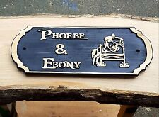 Horse Name Plate Stable Door Horse Name Plaque (Piece of Eight Font) hand Made