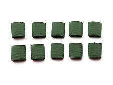 """1"""" Mil-spec Elastic Webbing Strap Keepers - Woodland Camo Green - 10 Pack"""