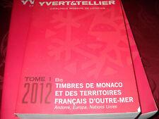 catalogue Yvert Monaco  2012 neuf