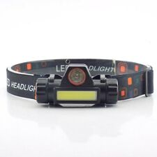 COB LED Headlamp USB Rechargeable Mini Headlight head light Torch Flashlight ju7