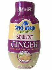 Spice World Squeeze Ginger Ideal on Seafood, Chicken, Sushi, Veggies 22.75 OZ