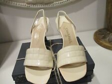 Vintage Chanel white patent leather quilted shoes Size 38