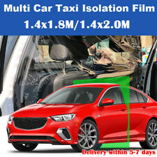Plastic Car Taxi Uber Lyft Cab Divider Film Isolation Partition Protective US