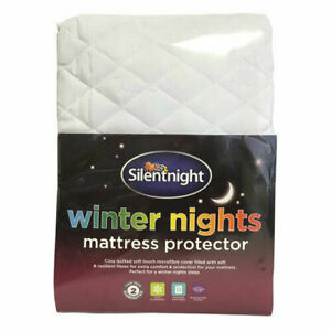 SILENTNIGHT ANTI-ALLERGY QUILTED MATTRESS AND PILLOW PROTECTOR SINGLE DOUBLE