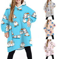 Comfy HOODIE SWEATSHIRT Wearable Blanket for Kids With Sleeves Pocket Oversized