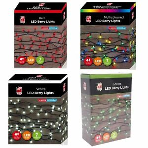Super Bright 100 200 LED / 384 LED Cluster Christmas Berry Lights With 7 Modes