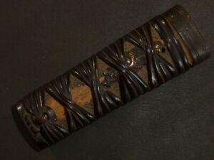 """TSUKA (handle) of Katana (sword) : EDO : 4.5 × 1.2 """" 60g"""