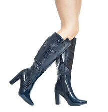 100% Leather Upper Material Standard (B) Width Wet look, Shiny Heels for Women