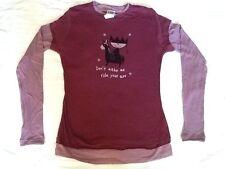 "Funny Ugly Little Bitch Women Long Sleeve Medium T-shirt 16"" x 24"""
