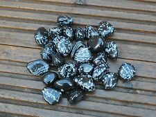 50 Medium Snowflake Obsidian Tumblestones -- 20mm - 30mm  -- Wholesale Bulk
