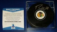 BECKETT-BAS RYAN HARTMAN AUTOGRAPHED SIGNED CHICAGO BLACKHAWKS HOCKEY PUCK 16059