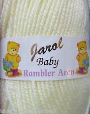 100g BALLS JAROL BABY RAMBLER ARAN 100% ACRYLIC KNITTING YARN/WOOL