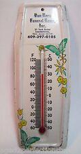 Vintage Van Horn Funeral Home Advertising Thermometer Lambertville New Jersey
