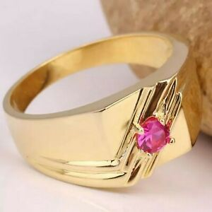 Natural Ruby Gemstone With 925 Sterling Silver Ring For Men #9