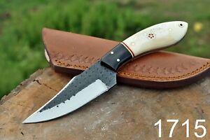 Custom Handmade High Carbon Steel Hunting Skinner Knife Fix Blade Knife+sheath