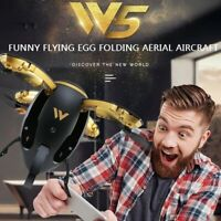 Egg Folding FPV RC Drone Quadcopter with HD Camera Headless Mode Kids Toys