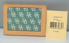 NWT Vtg DOONEY & BOURKE Vachetta Leather Signature Logo Wallet Forest Green $115