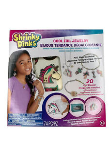 Shrinky Dinks Cool Foil Jewelry Set 74 pieces ages 5 and up