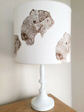 Lakeland Terrier Dog Print Fabric Lamp