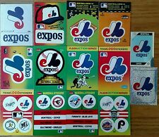Montreal Expos team sticker lot 14 different 1968-1970 Fleer + 80s & 90s