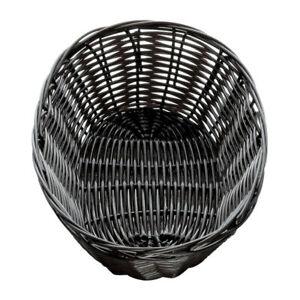 Handwoven Oval Basket Black 7 x 5 x 2inch | Polypropylene Basket, Wicker Basket,