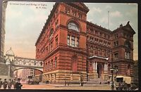 Criminal Courts and Bridge of Sighs New York City Vintage Postcard E130