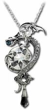 New Alchemy Gothic Theomachia Crystal Dragon Pendant Necklace Pewter P507