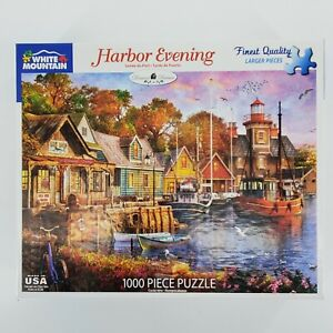 White Mountain Jigsaw Puzzle 1000 Pieces Harbor Evening