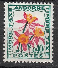 TIMBRE TAXE  ANDORRE FRANCE NEUF  N° 51  **  FLEURS DES CHAMPS