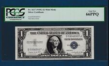 Fr.1617   $1   1935 G  WITH MOTTO   SILVER CERTIFICATE SN D 59560937 J  PCGS 66