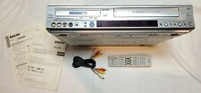 Sanyo Drw-1000 Dvd Recorder/Player Vcr Vhs With Remote And Manuals Tested!