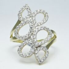 9ct Yellow Gold and Cubic Zirconia Simulant Diamend Dress Ring