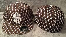 """J Dempsey Authentic DOLLAR SIGN """"$"""" Fitted Hat Hip Hop Flat Brim Size 7 1/4"""