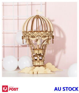 Hot Air Balloon 3D Wooden Laser Cut Puzzle Model Kit Robotime Craft DIY Toy Gift