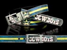 860003 NTH QUEENSLAND COWBOYS NRL TEAM COLOURED PU LEATHER BELT UP TO 145CM LONG