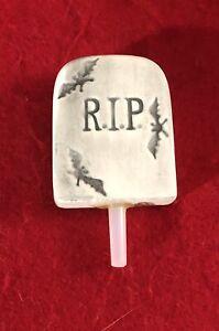 Nora Fleming RIP Tombstone Gone haunting Mini Rare Pristine Condition