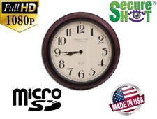 1080P Wall Clock Hidden Spy Nanny Camera DVR Motion Activated Battery Operated