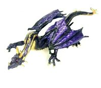 Safari 2008 MIDNIGHT MOON DRAGON Purple Gold Mythical Fantasy Figure