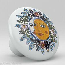 Sun Moon Talavera Design Ceramic Knobs Pulls Kitchen Drawer Cabinet Dresser 1215