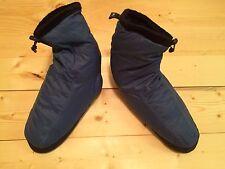 REI Down Slippers Booties Mukluks Tent Shoes Blue Medium Retro Fleece Lined WARM
