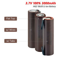 3.7V 3000mAh High Drain HG2 18650 Battery 20A Rechargeable For Torch Toy 4Pcs E