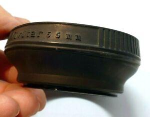 Vivitar 55mm screw in Rubber Lens Hood Shade telephoto
