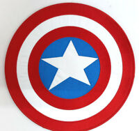 """Giant 10"""" Captain America Shield Back Embroidered Patch- Iron On"""