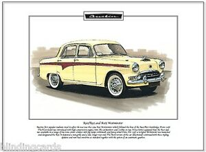 AUSTIN A90/A95 and A105 Westminster - Fine Art Print - A4 size - Classic BMC car