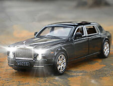 1:24 Rolls-Royce Phantom Diecast Metal Limousine Model Car Black New in Box
