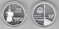 CAPE CABO VERDE - SILVER PROOF 250 ESCUDOS COIN 2010 YEAR SHIP 30th INDEPENDENCE