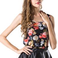 Women Summer Sleeveless Vest Chiffon Tops T-Shirt Blouse Ladies Casual Cami Tops