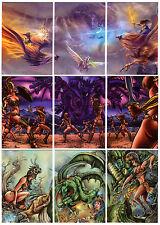 2014 BRAIIINZ Beauty & the Myth 9 Card Mythic Battles Puzzle Chase Set MYTHOLOGY